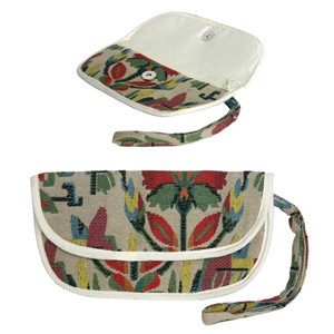 Cotton purse, 'Floral Mirage'