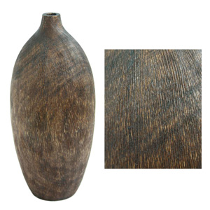 Mango wood vase, 'Rustic Authenticity'