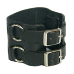Leather bracelet, 'Force'