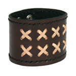 Leather bracelet, 'Decurion'