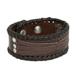 Leather bracelet, 'Speed'