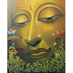 Acrylic on canvas, 'Perfection of the Dharma'