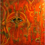 Acrylic on canvas, 'The Eye of Ganesha'