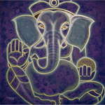Acrylic on canvas, 'Ganesha'
