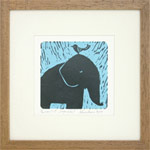 Linocut print, 'Peaceful Moment'