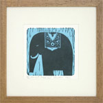 Linocut print, 'Royal Elephant'