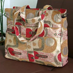 Cotton tote shoulder bag, 'Champagne Party'