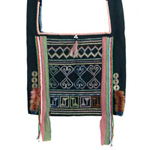 Akha cotton shoulder bag, 'Ethnic Legend'