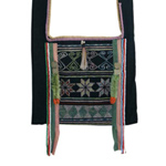 Akha cotton shoulder bag, 'Ethnic Artistry'