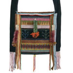 Akha cotton shoulder bag, 'Ethnic Dream'