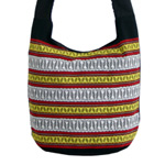 Cotton shoulder bag, 'Wheat Harvesting'