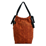 Cotton shoulder bag, 'Brown Regalia'