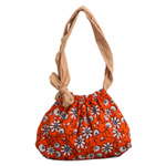 Children's shoulder bag, 'Summer Daisies'