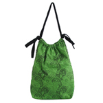 Cotton shoulder bag, 'Life Pool' (tall)