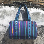 Cotton shoulder bag, 'Chiang Mai River'