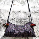 Cotton shoulder bag, 'Hill Tribe Magic'
