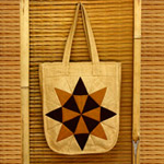 Cotton shoulder bag, 'Midday Kaleidoscope'