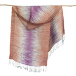 Silk scarf, 'Lightning'