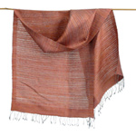 Silk scarf, 'Earth Weave'