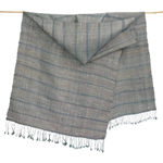 Silk scarf, 'Grey Orchid'