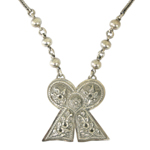 Sterling silver necklace, 'Clover Luck'