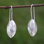 Sterling silver dangle earrings, 'Floral Whispers'