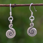 Sterling silver dangle earrings, 'Endless Flow'