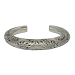 Sterling silver bangle, 'Natural Harmony'