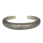 Sterling silver bangle, 'Playful Clouds'