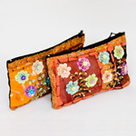 Cotton purse, 'Doi Pui Flowers' (Set of 2)
