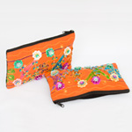 Cotton purse, 'Doi Suthep Flowers' (Set of 2)