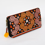 Cotton Hmong purse, 'Circles of Love'