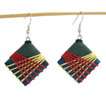 Kapok wood earrings, 'Night Lights'