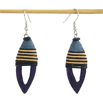Kapok wood earrings, 'Birdies'