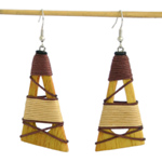 Kapok wood jewelry set, 'Solar Symbols'