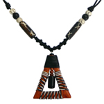 Kapok wood pendant necklace, 'Forest Bell'