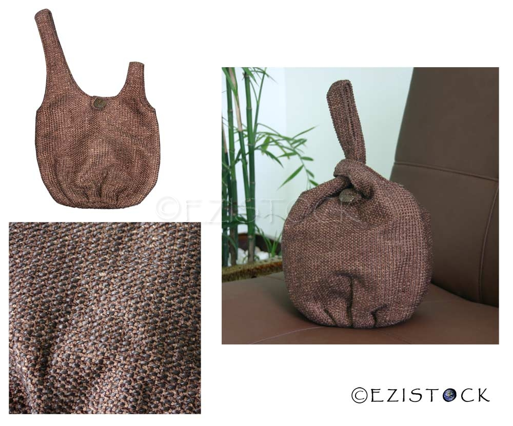 Cotton handbag, 'Earth' (loop) - Click Image to Close
