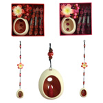 Incense and holder hanging set, 'Spicy Frangipani'