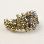 Glass bracelet, 'Diamond Hive'
