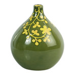 Ceramic vase, 'Buttercup Teardrop'