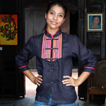Linen and cotton tunic, 'Chiang Mai Blue'