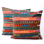 Akha cotton cushion covers, 'Green Tribe' (pair)