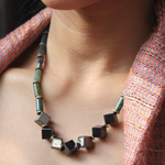 Hematite and magnetite necklace, 'Optimism'