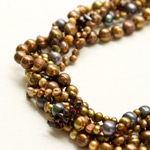 Pearl and garnet necklace, 'Timeless Spiral'