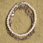 Amethyst and moonstone bracelet, 'Melody'