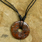 Jasper pendant necklace, 'Earth Protection'