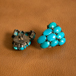 Turquoise and silver earrings, 'Blue Goddess'
