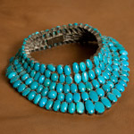 Turquoise and silver necklace, 'Blue Goddess'