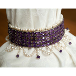 Amethyst and pearls choker, 'Purple Empress'