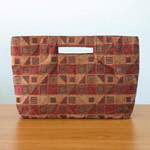 Cotton handbag, 'Cherry Cubism' (long)